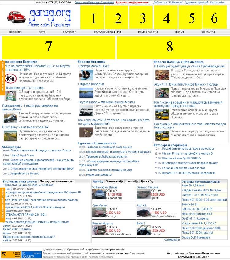 Главная страница garag.org